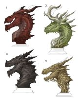 Dragon Busts by sandara