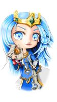 Queen Ashe with Bard Plushie by Xaendreth