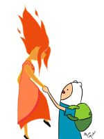Finn and the Flame Princess by invaaderzim