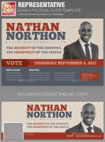 Representative Political Flyer Template by loswl