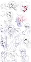 Sketch dump 43 by LiLaiRa