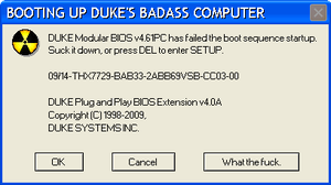 DUKE-OS has failed booting by NeoMetalSonic360