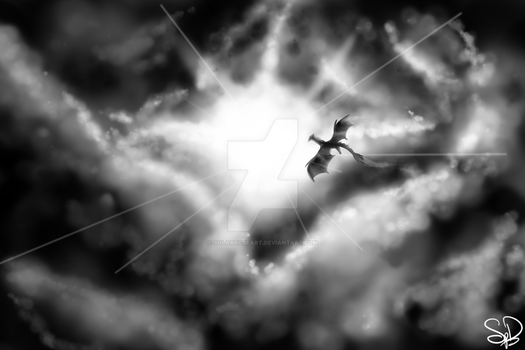 Through The Clouds by SolarPaintDragon