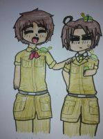 Chibi Spain and Romano (requested) by manajiwinp