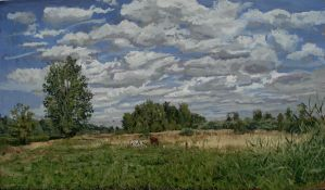 landscape with cows by ladmen