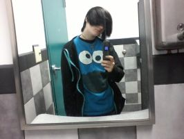 Alexavier As Cookie Monster Again by Outsiderism
