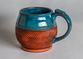 Blue Textured Mug by KaiCeramics