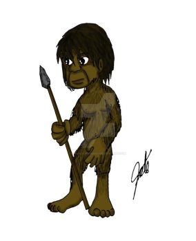 Homo floresiensis 1st try by TroodonKid2007