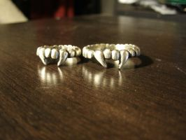 Silver Cast Vampire Ring by JN-Leather