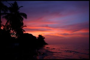 Caribbean sunset by Tsirona