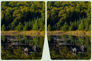 Mississagi Lake 3D :: HDR/Raw CrossEye Stereoscopy by zour