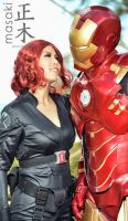 Black Widow and Iron Man by KimMazyck