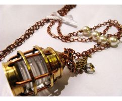 Storm Lantern Long necklace by Verope