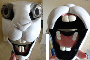 Bunny WIP, showing jawset by DreamVisionCreations