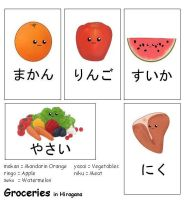 Groceries Japanese Flash Cards by Kalisama