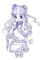 CCS: Tomoyo (Qing outfit) by Vestal-Spirit