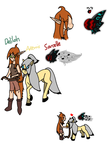 Delilah, Artimis and Sarcelle (Collab) by LegendofHearts