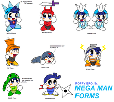 Poppy Sr. Megaman RM Forms 3 by JigglyPuffGirl