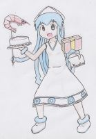 Ika Musume - First time(?) colouring by DennisLego