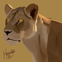 Step 2 of lioness by Kuot