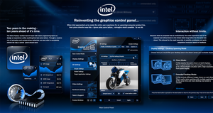Intel Graphics Control Panel UX + UI Design View 1 by skinsfactory