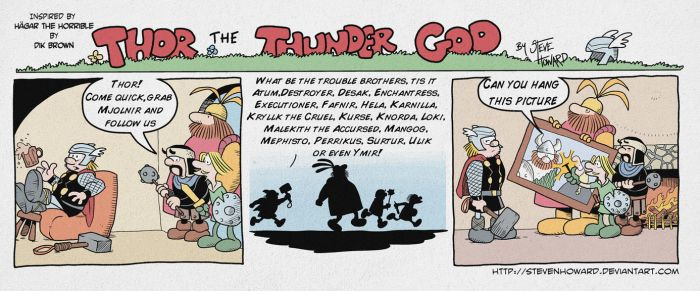 Week 161 Thor The Thunder God by StevenHoward