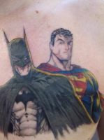 Superman/Batman #8 Cover Up Tattoo by seanb47