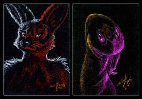 Endless Rivals ACEO Set by FuzzyAcornIndustries