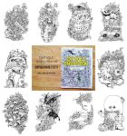 Selected Pages from Doodle Invasion Coloring Book by kerbyrosanes