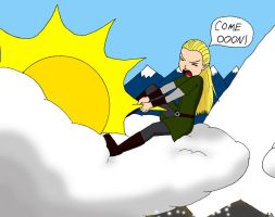 Legolas fetches the Sun by ka-du-trur