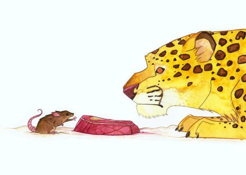 Leopard and Mouse by morganobrienart