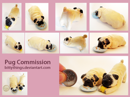 Pugs - COMMISSION by Bittythings