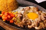 Sizzling Sisig with Egg by bearypink