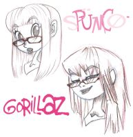 me as spumco and gorillaz by selene-nightmare69