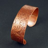 Hammered Copper Cuff Bracelet by sylva