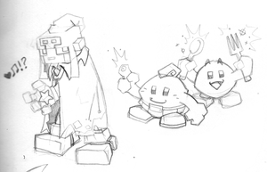 Mario RPG characters by Hologramzx