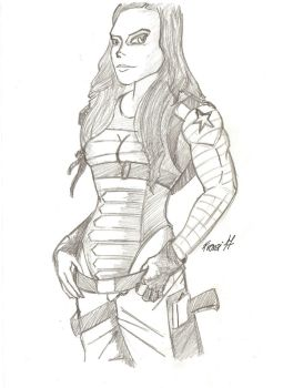 Female Winter Soldier by FranzArt0789