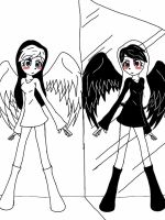 mirror angels finished by Ookami-Yuki