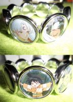 Sesshomaru Rin Ah-Un and Jaken Bracelet by BlackManaBurning