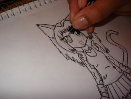 Inking a picture: 2 by cali-cat