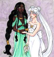 Queens Gaia and Serenity by nickyflamingo
