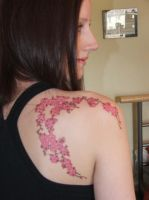 Cherry Blossom Tattoo by Elyssandrel