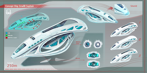 Concept Ship Sophon Small 01 by Kryssalian