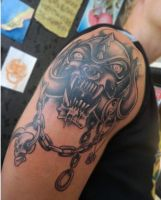 Custom made Motorhead tattoo by Vinoshitto