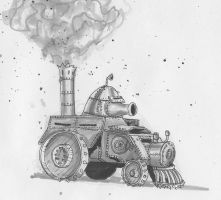 steam powered tank by Mate-Corporation