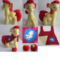 Applebloom with accessories and cape. by mylittlezombie