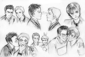 many faces of Ant and Dec by IchiOfTheRainbow