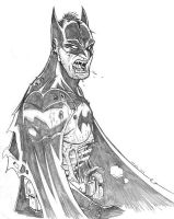 Zombie Batman by TPollockJR