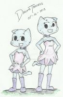 Gumball and Nicole wearing Aimi's Outfit (NEW) by DASimsTOON2012