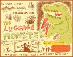 The Luggage Monster by laresistance